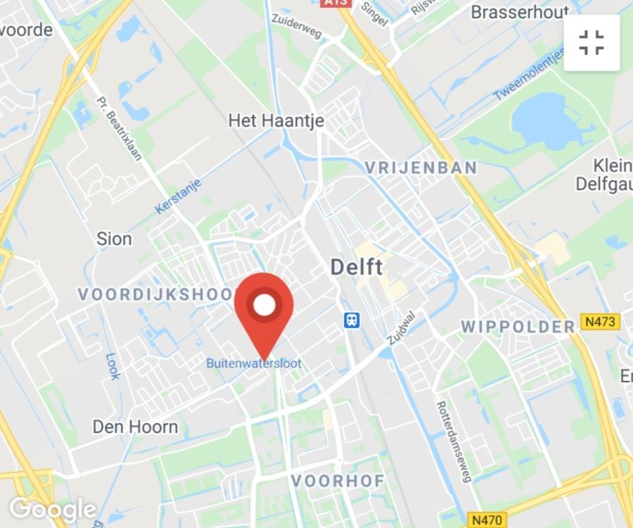 Kaart coronatest-delft.com - Coronavirus test locaties Delft